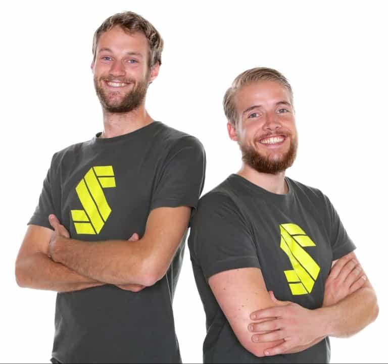 Oprichters Martijn en Fred