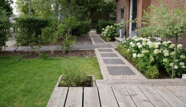 Tuin aanleggen in baarn dirksen bestratingen