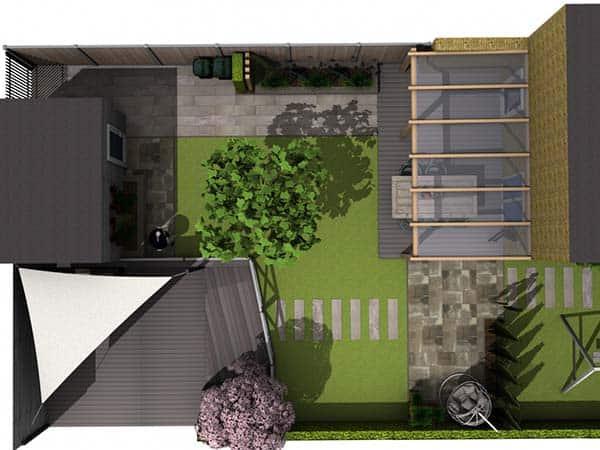 3D tuinontwerp overzicht