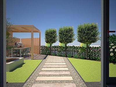 nieuwbouwtuin ontwerp