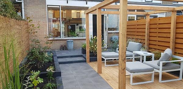 moderne tuin voorbeeld
