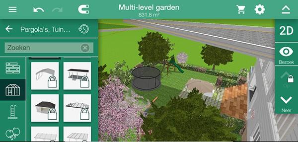 Voorbeeld van de app HD 3D Outdoor & Garden