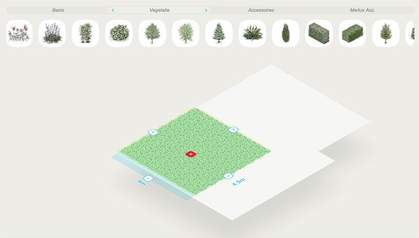Voorbeeld van Tuin Creator tuinontwerp programma