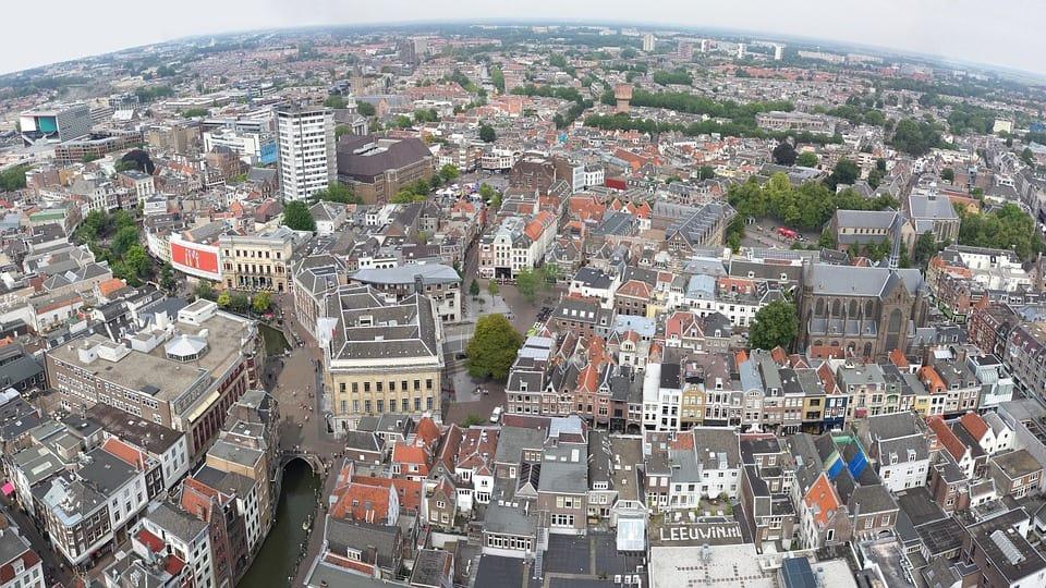 Plaatje van Utrecht waar wij tevens ook bomen kappen