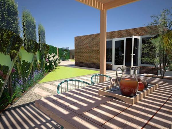Onderhoudsvriendelijke tuin ontwerp